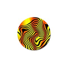 Colored Zebra Golf Ball Marker