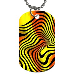 Colored Zebra Dog Tag (two Sided)