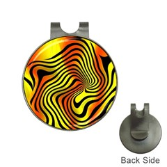 Colored Zebra Hat Clip with Golf Ball Marker