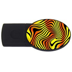 Colored Zebra 4gb Usb Flash Drive (oval)