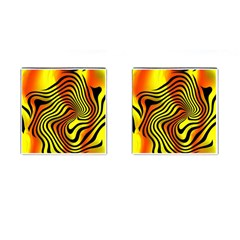 Colored Zebra Cufflinks (square)