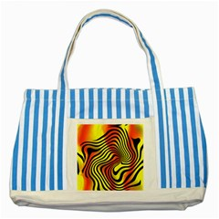 Colored Zebra Blue Striped Tote Bag