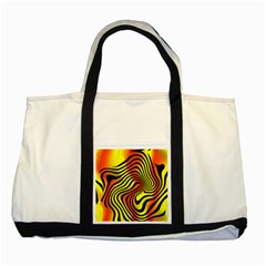 Colored Zebra Two Toned Tote Bag