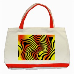 Colored Zebra Classic Tote Bag (Red)