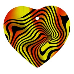 Colored Zebra Heart Ornament (two Sides)
