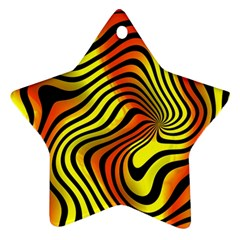 Colored Zebra Star Ornament (two Sides)
