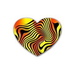 Colored Zebra Drink Coasters 4 Pack (heart)