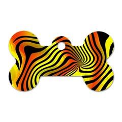 Colored Zebra Dog Tag Bone (one Sided)