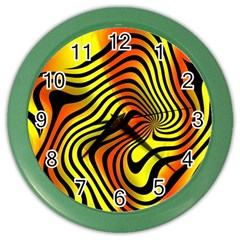 Colored Zebra Wall Clock (Color)