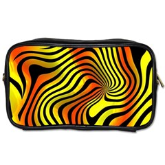 Colored Zebra Travel Toiletry Bag (two Sides)
