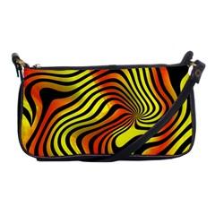 Colored Zebra Evening Bag