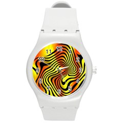 Colored Zebra Plastic Sport Watch (Medium)