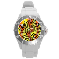 Colored Zebra Plastic Sport Watch (Large)