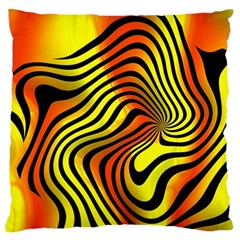 Colored Zebra Large Cushion Case (Two Sided)