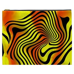 Colored Zebra Cosmetic Bag (XXXL)