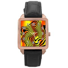 Colored Zebra Rose Gold Leather Watch