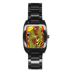 Colored Zebra Stainless Steel Barrel Watch