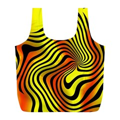 Colored Zebra Reusable Bag (L)