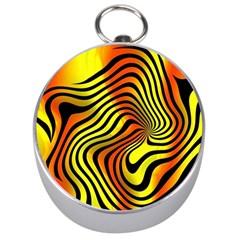 Colored Zebra Silver Compass
