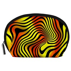 Colored Zebra Accessory Pouch (Large)
