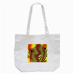 Colored Zebra Tote Bag (white)