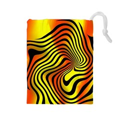 Colored Zebra Drawstring Pouch (Large)