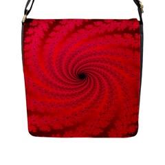 Fracrtal Flap Closure Messenger Bag (large)