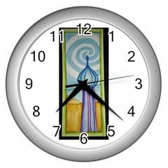 Air Wall Clock (silver)