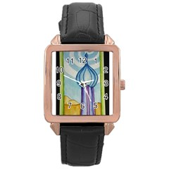Air Rose Gold Leather Watch