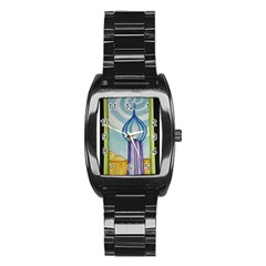 Air Stainless Steel Barrel Watch