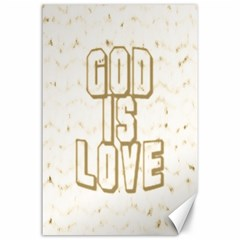 God Is Love Gold1 Canvas 24  x 36  (Unframed)