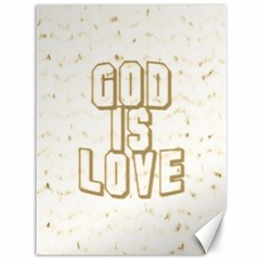 God Is Love Gold1 Canvas 36  X 48  (unframed)