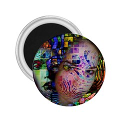 Artistic Confusion Of Brain Fog 2 25  Button Magnet
