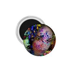 Artistic Confusion Of Brain Fog 1 75  Button Magnet