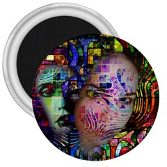 Artistic Confusion Of Brain Fog 3  Button Magnet