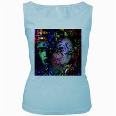 Artistic Confusion Of Brain Fog Women s Tank Top (Baby Blue)