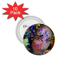 Artistic Confusion Of Brain Fog 1.75  Button (10 pack)