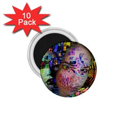 Artistic Confusion Of Brain Fog 1.75  Button Magnet (10 pack)