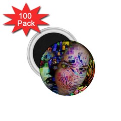Artistic Confusion Of Brain Fog 1.75  Button Magnet (100 pack)