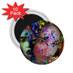Artistic Confusion Of Brain Fog 2.25  Button Magnet (10 pack)