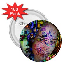 Artistic Confusion Of Brain Fog 2.25  Button (100 pack)