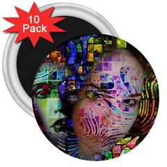 Artistic Confusion Of Brain Fog 3  Button Magnet (10 Pack)