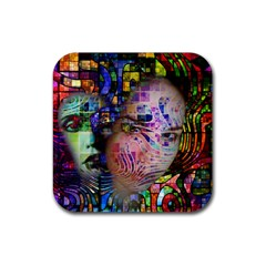 Artistic Confusion Of Brain Fog Drink Coasters 4 Pack (Square)
