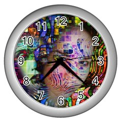 Artistic Confusion Of Brain Fog Wall Clock (Silver)