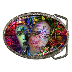 Artistic Confusion Of Brain Fog Belt Buckle (Oval)