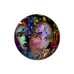 Artistic Confusion Of Brain Fog Drink Coaster (Round)
