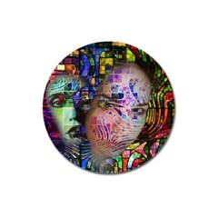 Artistic Confusion Of Brain Fog Magnet 3  (round)