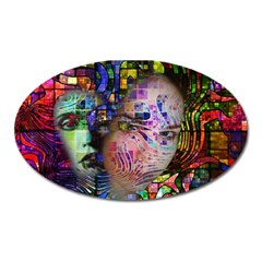Artistic Confusion Of Brain Fog Magnet (Oval)