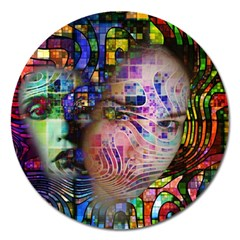 Artistic Confusion Of Brain Fog Magnet 5  (round)