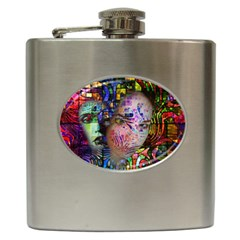 Artistic Confusion Of Brain Fog Hip Flask